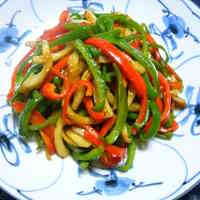 Chinjao Rosu-style Chikuwa and Green Pepper Stir-fry