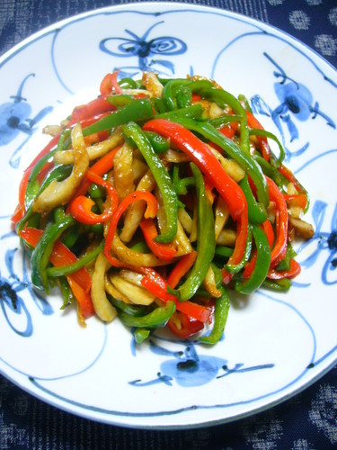 Chinjao Rosu-style Chikuwa and Green Pepper Stir-fry