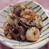 Kinpira-style Chikuwa and Maitake Mushroom