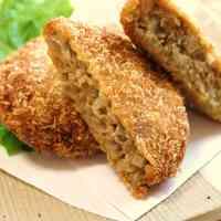 Crunchy Menchi Katsu with Lotus Root