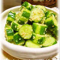 Crunchy Sesame Seed Cucumbers with an Extra Twist