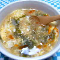 Taiwanese Hot and Sour Soup Made with the Cooking Liquid