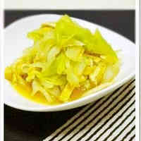Cabbage Cooked in Consommé Dashi Stock