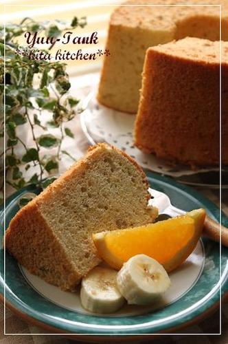 So Refreshing! Fragrant Banana and Orange Chiffon Cake