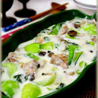 Chicken and Bok Choy Cream Stew