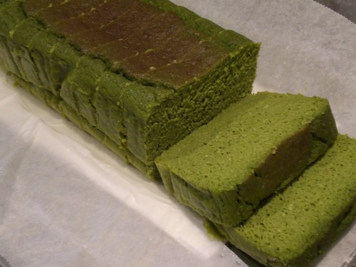 Matcha Cake with Okara (Soy Pulp) and Soy Milk