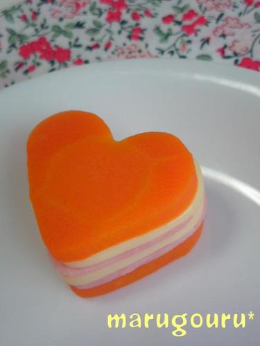 For Bentos - Carrots, Ham, and Cheese Millefeuille