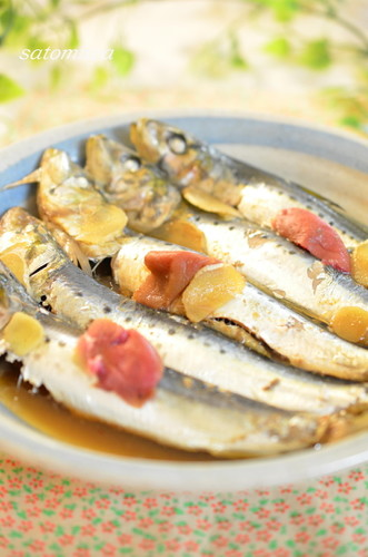 Tender Sardines Simmered in a Pressure Cooker with Pickled Ume and Vinegar
