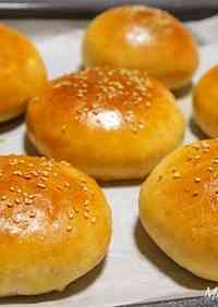 Whole Wheat Hamburger Buns (using a bread maker)