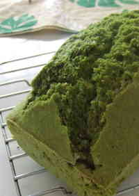 Easy Matcha Green Tea Pound Cake with Pancake Mix and Okara