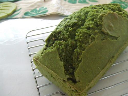 Easy Matcha Green Tea Pound Cake with Pancake Mix and Okara