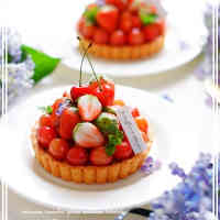 Cream Cheese Custard and Cherry Tart
