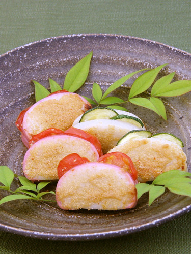 Beer Snacks for Father's Day: Toasted Kamaboko Fish Cakes with Spicy Mentaiko
