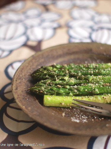 Asparagus Saute with Lots of Grated Cheese