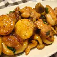 Sweet and Savory Chicken and Nagaimo Yam Stir Fry