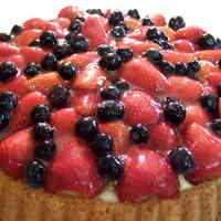 German Dessert: Strawberry & Blueberry Tart