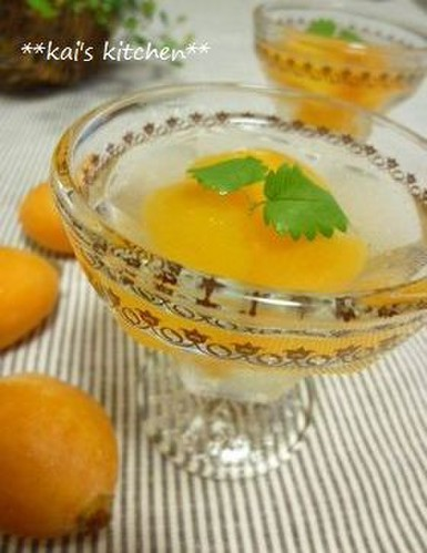 Early Summer Loquat Jello