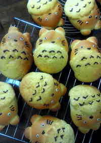 Totoro Cream-filled Melon Buns