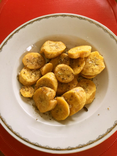 Spicy Fried Plantains / Sweet Potato