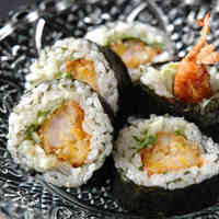 Spicy Fried Shrimp Sushi Rolls