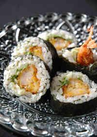 Spicy Fried Shrimp Sushi Rolls