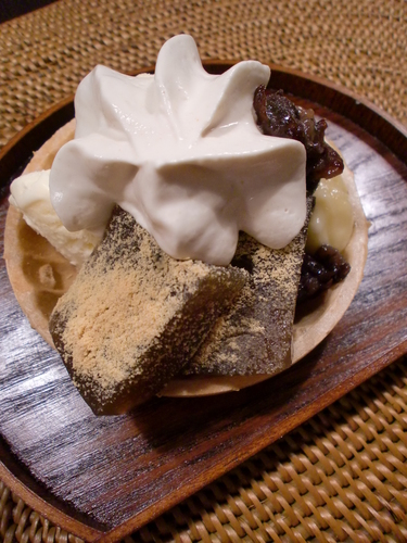 Elegant Japanese-Style Parfait with Warabi Mochi & Wafer Cake