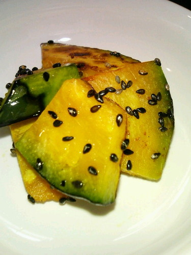 Butter Kabocha with Black Sesame Seeds