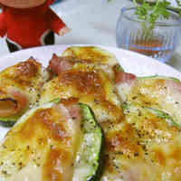 Baked Zucchini with Bacon and Cheese