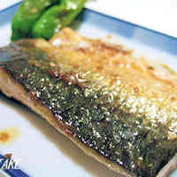 Pan-Fried Salted Mackerel with Sesame and Mayonnaise
