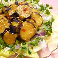 Eggplant Salad with Spicy Dressing