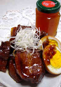 Pork Belly Simmered with Ume Jam and Honey