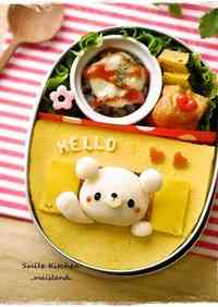 Window Omurice for a Character Bento