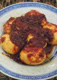 Sambal Telur (Malaysian-Style Hard Boiled Eggs in Chili Sauce)