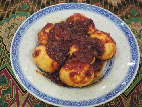 Sambal Telur (Malaysian-Style Hard Boiled Eggs in Chili Sauce)