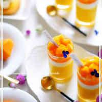 Creamy Melting Triple-layered Mango Pudding