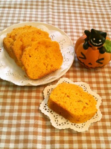 Egg-less Simple and Fluffy Kabocha Squash Cake