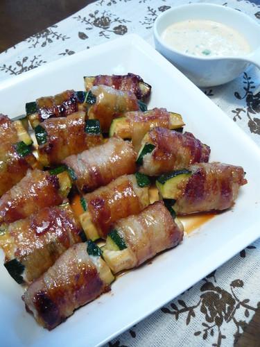 Zucchini Pork Teriyaki Rollups