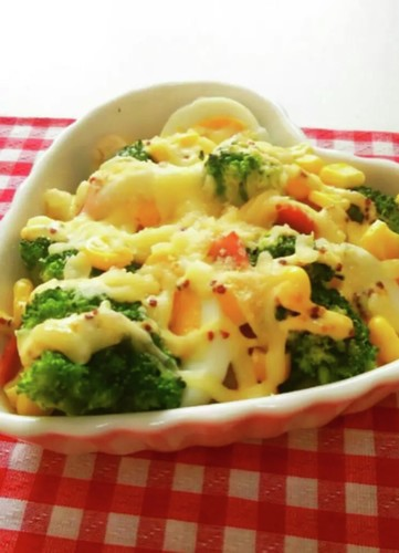 Rich Baked Broccoli with Cheese