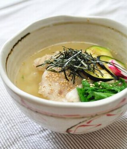 Chilled Chicken Ochazuke (Rice Porridge)