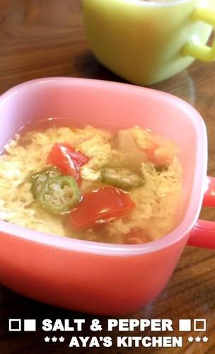 Okra & Tomato Soup with Refreshing Vinegar