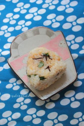 Tempura Crumbs and Salted Konbu Rice Balls