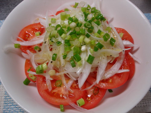 Tomato and Sliced Sweet Onion Salad