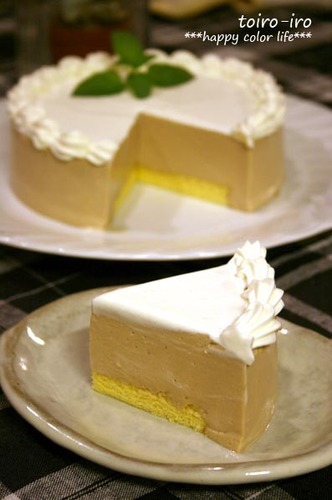 Easy Milk Coffee Bavarian Cream Cake!
