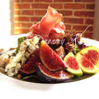 Fig, Dry-Cured Ham, and Blue Cheese Salad