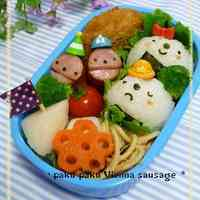Sausage Faces for Bento Lunchboxes