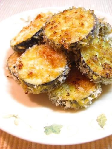 Aubergine Baked in Consommé-Seasoned Panko