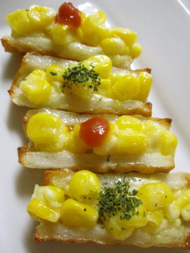 Chikuwa Fishcake Sticks with Mayonnaise and Corn