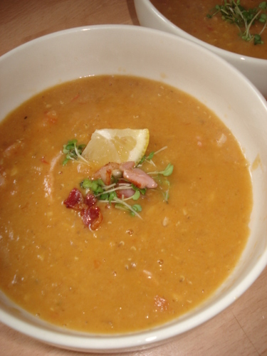 Lentils and Bacon Soup