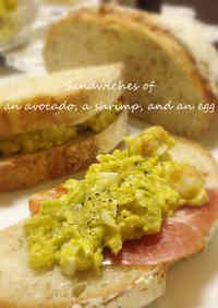 Egg Salad Sandwich with Avocado and Shrimp