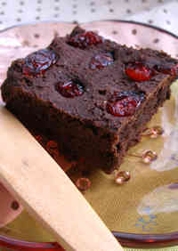 Dried Cranberry Macrobiotic Brownies